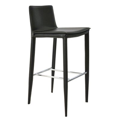 Vicenta 24 Bar Stool Seat Color: Black