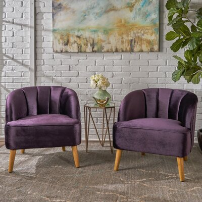 Gerardi Modern Club Chair Upholstery: Blackberry