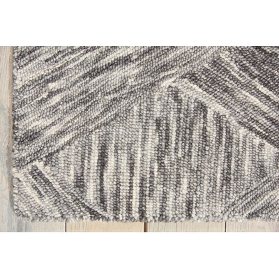 Divernon Hand-Woven Wool Charcoal Area Rug Rug Size: Rectangle 39 x 59