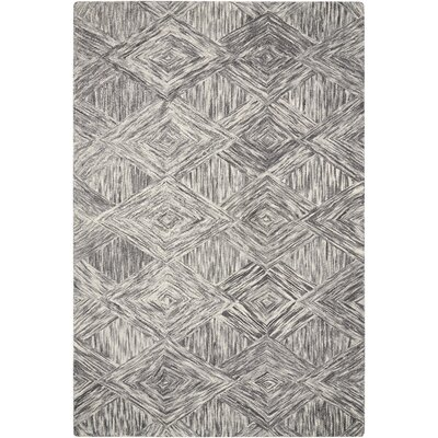 Divernon Hand-Woven Wool Charcoal Area Rug Rug Size: Rectangle 5 x 76
