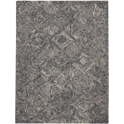 Divernon Hand-Woven Wool Charcoal Area Rug Rug Size: Rectangle 8 x 106