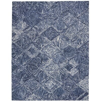 Divernon Hand-Woven Wool Denim Area Rug Rug Size: Rectangle 8 x 106
