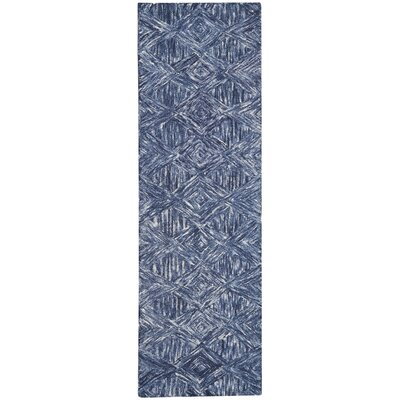 Divernon Hand-Woven Wool Denim Area Rug Rug Size: Runner 23 x 76