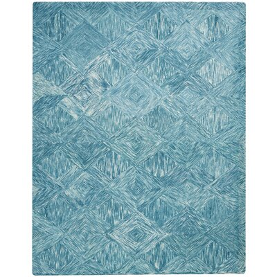 Divernon Hand-Woven Wool Marine Area Rug Rug Size: Rectangle 8 x 106