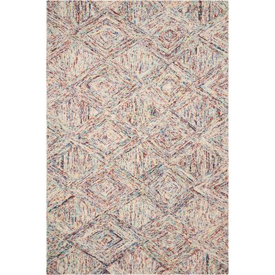 Divernon Hand-Woven Wool Tan/Blue Area Rug Rug Size: Rectangle 5 x 76