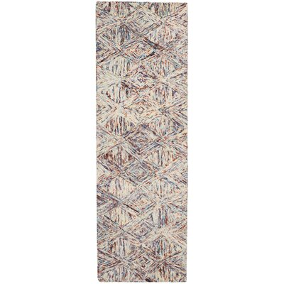 Divernon H-Woven Wool Red Area Rug Rug Size: Runner 23 x 76