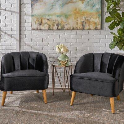 Gerardi Modern Club Chair Upholstery: Black