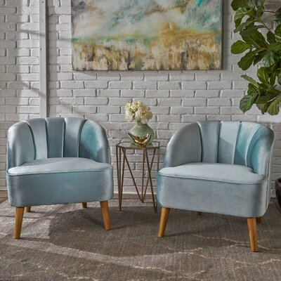 Gerardi Modern Club Chair Upholstery: Seafoam Blue