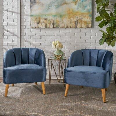 Gerardi Modern Club Chair Upholstery: Cobalt
