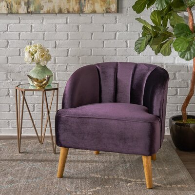 Gerardi Modern Barrel Chair Upholstery: Blackberry