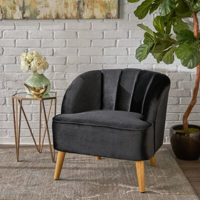 Gerardi Modern Barrel Chair Upholstery: Black
