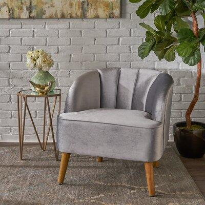 Gerardi Modern Barrel Chair Upholstery: Pewter