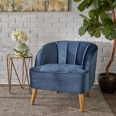 Gerardi Modern Barrel Chair Upholstery: Cobalt