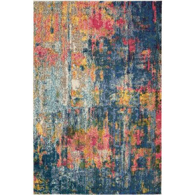 Velva Blue/Yellow Area Rug Rug Size: Rectangle 311 x 511