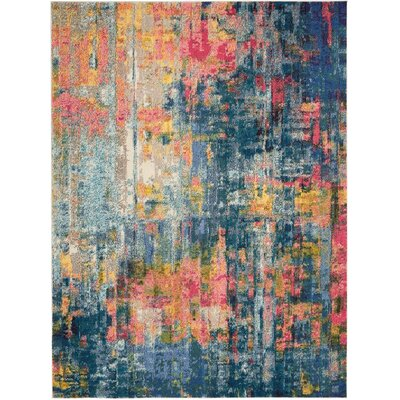 Velva Blue/Yellow Area Rug Rug Size: Rectangle 710 x 106