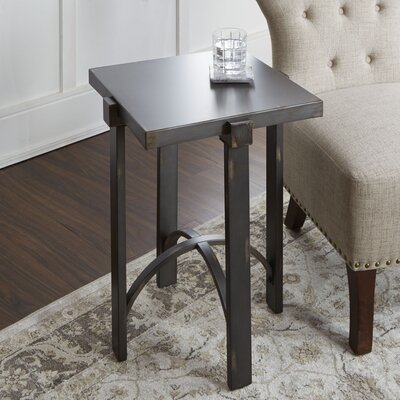 Baratta Distressed Square End Table