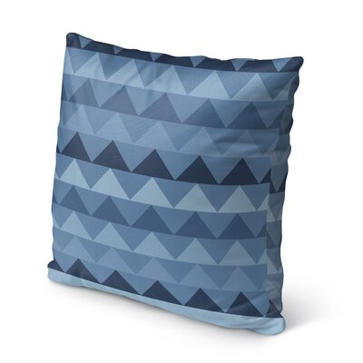 Gavin Burlap Indoor/Outdoor Throw Pillow Size: 20 H x 20 W x 5 D, Color: Blue
