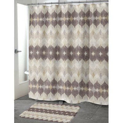 Dylan Cotton Blend Shower Curtain Size: 90 H x 70 W, Color: Brown/Tan