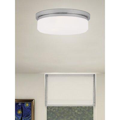 Cerie 2-Light Glass Shade Flush Mount Size: 4 H, Finish: Chrome