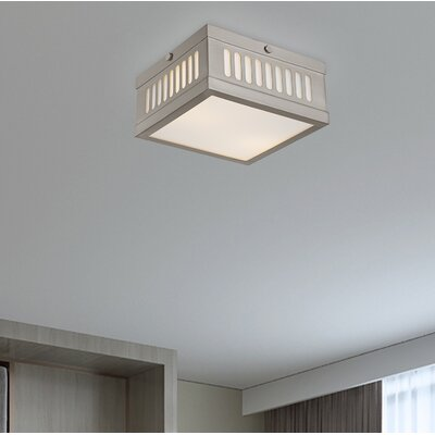 Alix 2-Light Flush Mount Finish: Brushed Nickel