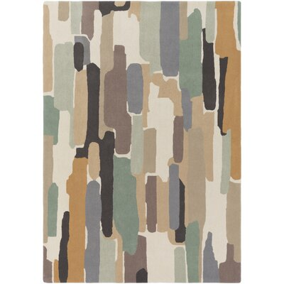 Melaina Hand-Tufted Modern Wool Area Rug Rug Size: Rectangle 5 x 8