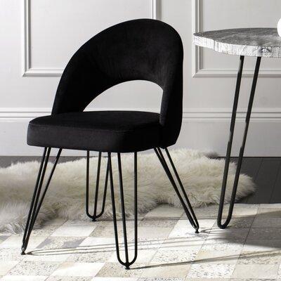 Malcom Side Chair Color: Black