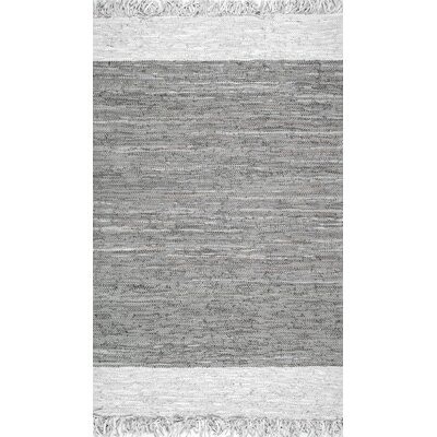 Emrich Hand-Woven Gray Area Rug Rug Size: Rectangle 76 x 96