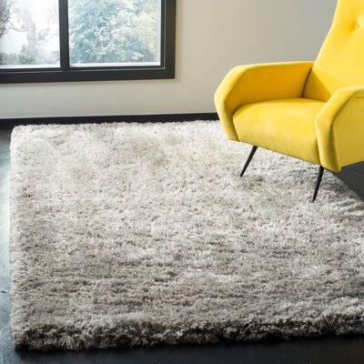 Loyola Shag Hand-Tufted Gray Area Rug Rug Size: Rectangle 3 x 5