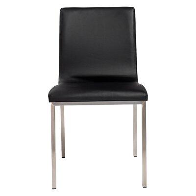 Jayla Side Chair Color: Black
