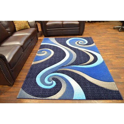 Mccampbell 3D Modern Contemporary Abstract Ocean Area Rug