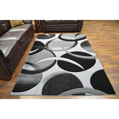 Mccampbell 3D Modern Contemporary Abstract Gray Area Rug
