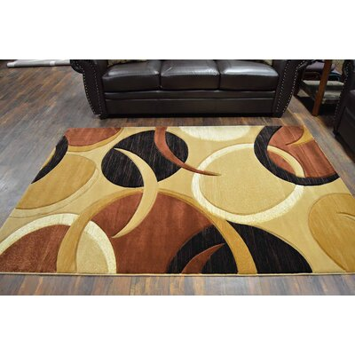 Mccampbell 3D Modern Contemporary Abstract Chocolate/Beige Area Rug