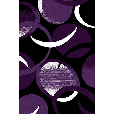 Mccampbell 3D Abstract Purple/Black Area Rug Rug Size: Rectangle 8' x 11'