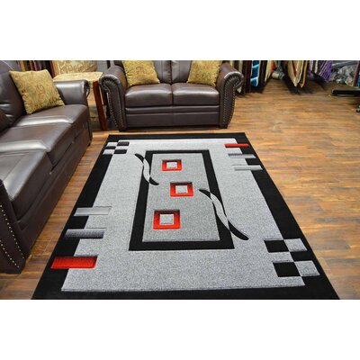 Mccampbell 3D Gray/Black Area Rug