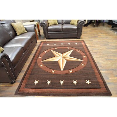 Mccampbell 3D Chocolate/Brown/Beige Area Rug