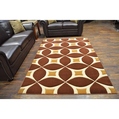 Mccampbell 3D Brown/Beige Area Rug