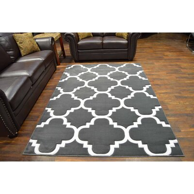 Mccampbell 3D Gray Area Rug