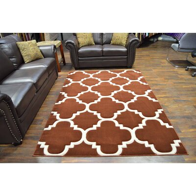 Mccampbell 3D Brown/Chocolate Area Rug