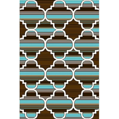 Mccampbell 3D Brown/Blue Area Rug Rug Size: Rectangle 8 x 11