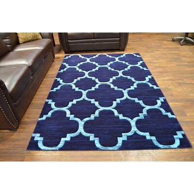 Mccampbell 3D Navy/Blue Area Rug