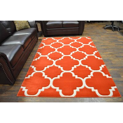 Mccampbell 3D Abstract Terracotta Area Rug Rug Size: Rectangle 2 x 4