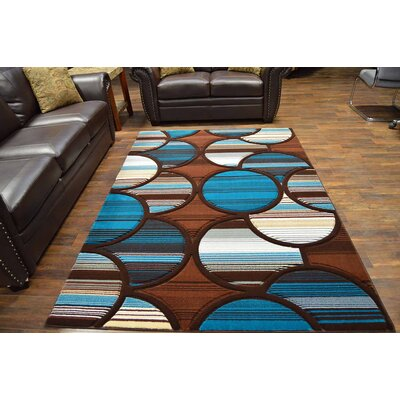 Mccampbell 3D Blue Area Rug