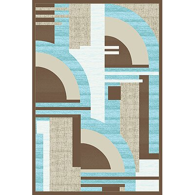 Mccampbell 3D Abstract Blue/Cream Area Rug Rug Size: Rectangle 5' x 7'