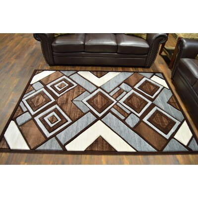 Mccampbell 3D Brown Area Rug