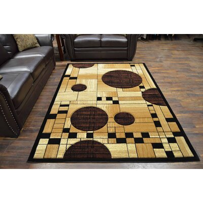 Mccampbell 3D Modern Contemporary Chocolate/Beige Area Rug