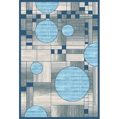 Mccampbell 3D Gray/Blue Area Rug Rug Size: Rectangle 5 x 7