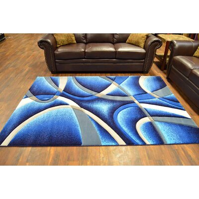 Mccampbell 3D Abstract Ocean/Navy/Blue Area Rug