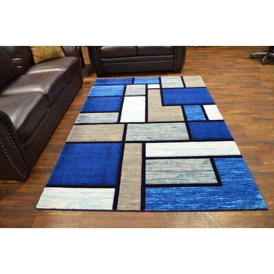 Mccampbell 3D Ocean/Navy/Blue Area Rug