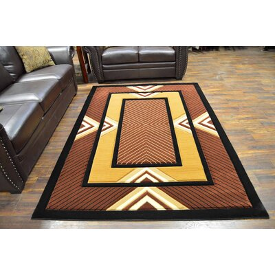 Mccampbell 3D Modern Contemporary Chocolate Area Rug