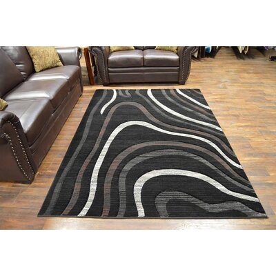 Mccampbell 3D Modern Contemporary Abstract Black/Cream Area Rug